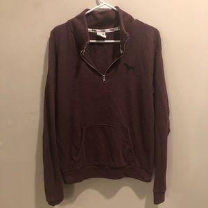 Victoria secret pink quarter zip jacket maroon